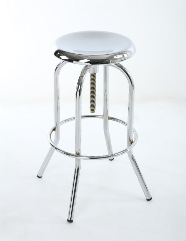 Mercury Chrome Bar Stool The Metal Barstool Is Great Looking Highly Polished Colour It Features An Adjule Se