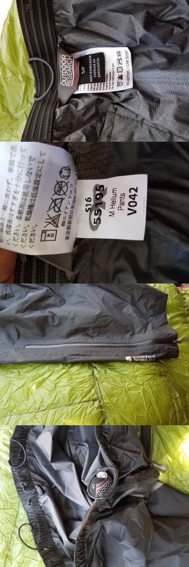 Pants and Shorts 181360: Outdoor Research Men Small Helium Pants -> BUY IT NOW ONLY: $50 on eBay!