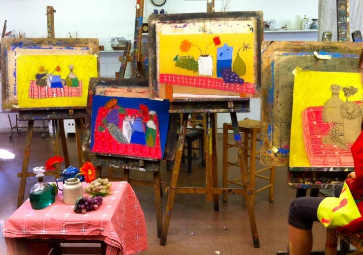 Treballs realitzats al taller de pintura Traç  edad de 8 a 11 anys  www.escolatrac.com