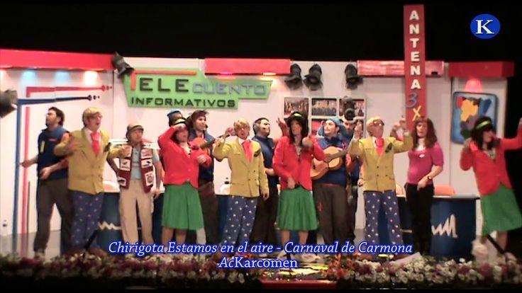 #carnaval #carmona Chirigota Estamos en el aire de Sevilla  2 Premio Final Carnaval de Carmona 2010