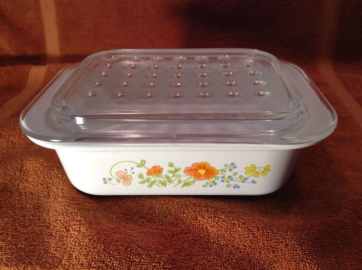 Corning Ware Wildflower MC-1-B with Dimpled Pyrex Lid MC-1-C Free Shipping #CorningWare