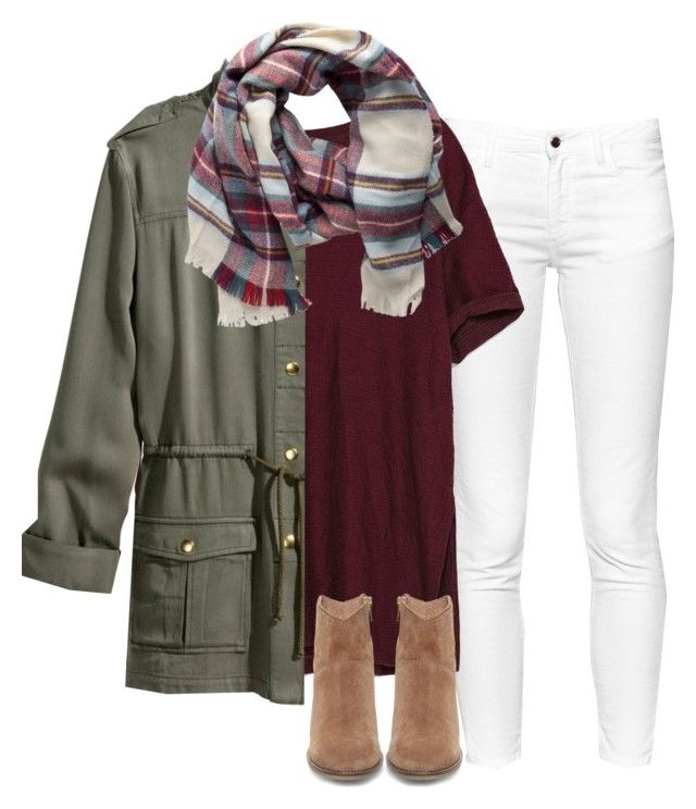 """""""Preppy boho"""" by sarahc-01 ❤ liked on Polyvore featuring French Connection, Zara, H&M, Pieces, Steve Madden, women's clothing, women's fashion, women, female and woman"""