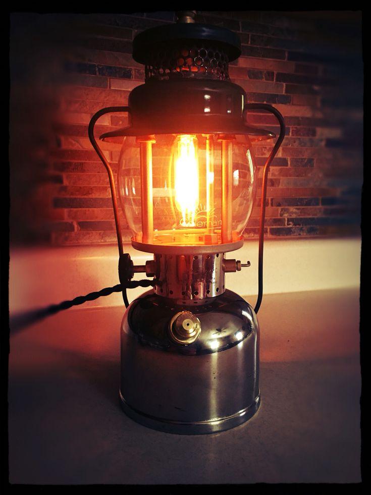 Repurposed Coleman lantern lamp