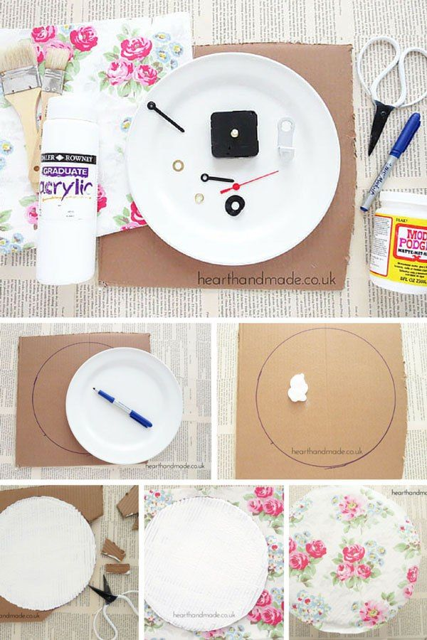 How To Make A Clock Cath Kidston Would Be Proud Of