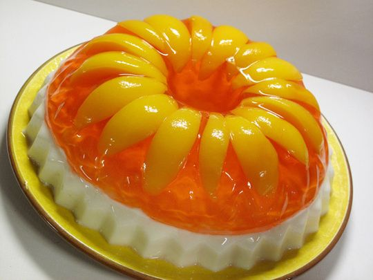 Retro Recipe: Peaches & Cream Jello Guest Post from Victoria Belanger: The Jello Mold Mistress of Brooklyn | The Kitchn
