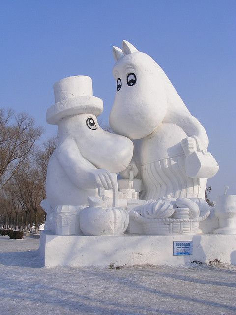 (a):Moomen in snew, Harbin International Ice and Snow Sculpture Festival | Flickr - Photo Sharing!