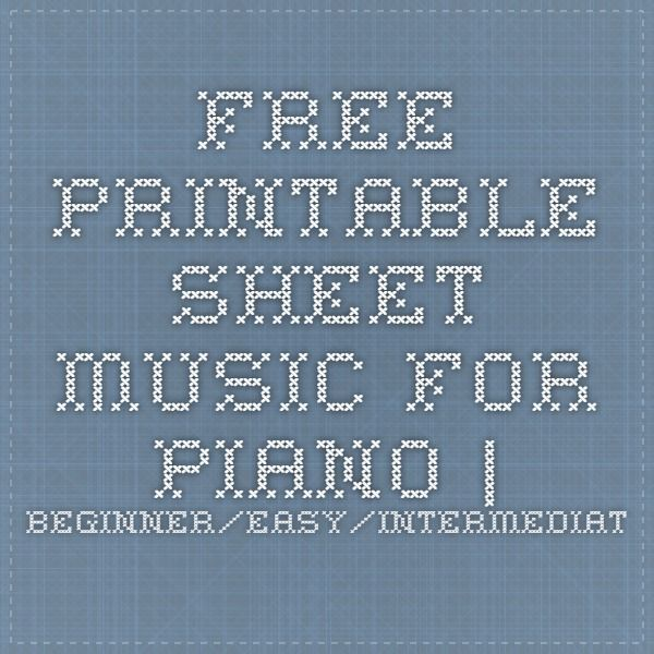 1000 Ideas About Piano Sheet Music On Pinterest: Free Printable Sheet Music For Piano