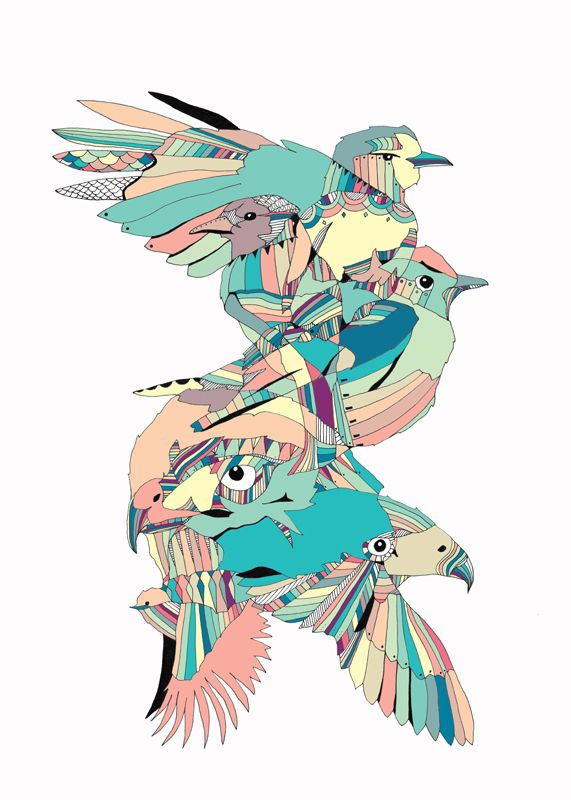 the spiro birds / 70x50cm / limited edition of 25!