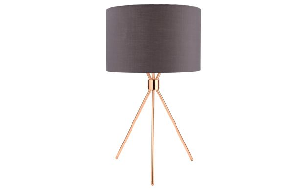By Sainsbury S Copper Finish Tripod Table Lamp