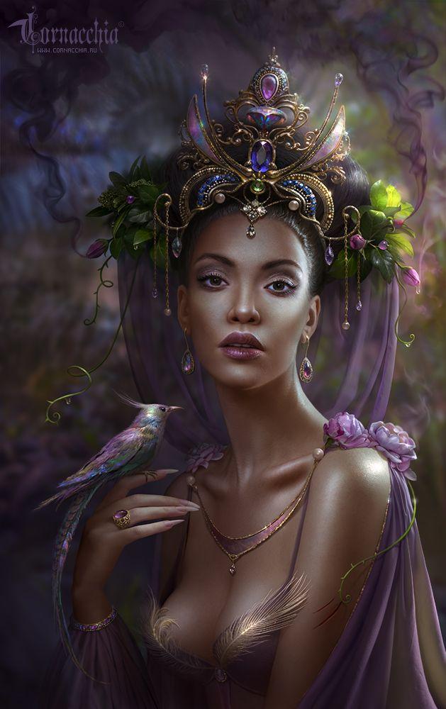 Another great inspiration for Dora via....Khabiba, The Jungle Princess by cornacchia-art on DeviantArt