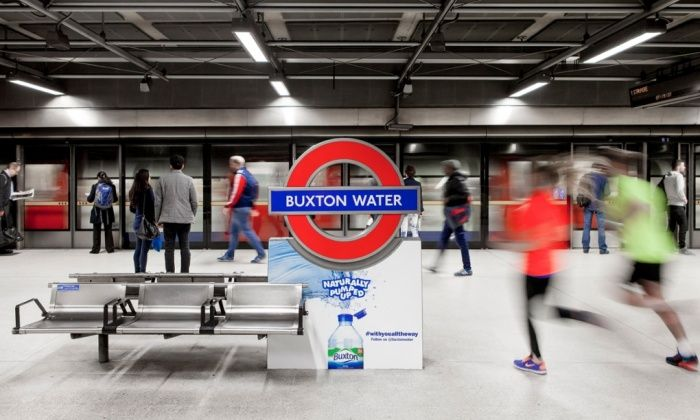 London Underground agrees first tube station sponsorship on marathon day  Canada Water, which is near start of race, will be rebranded for 24 hours as Buxton Water after deal with Nestle, leaving union less than impressed