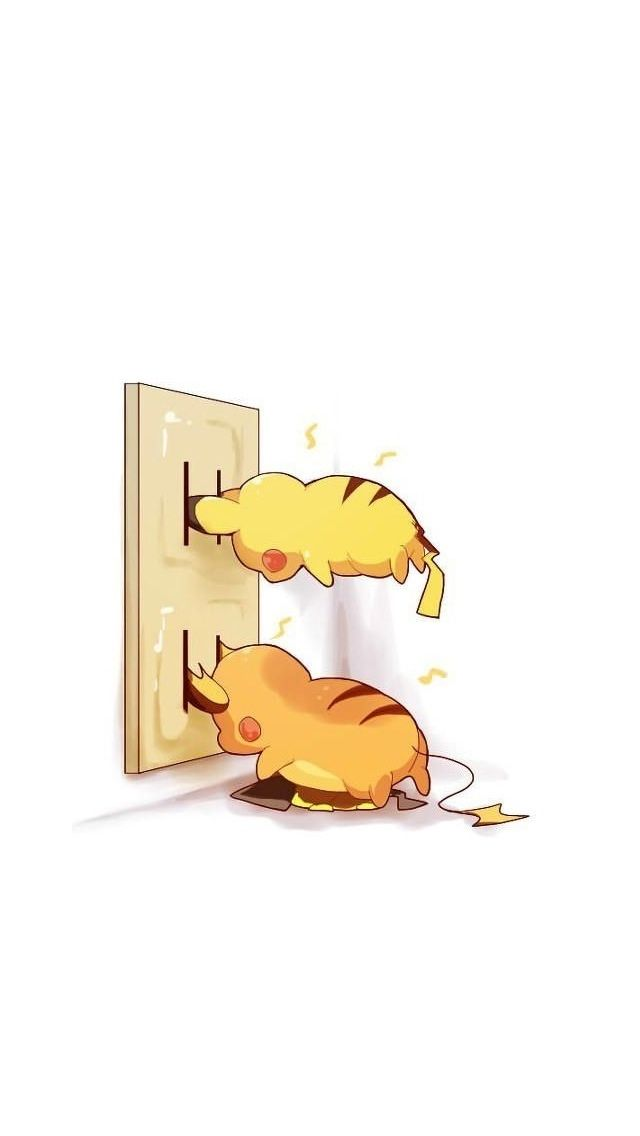 Pilachu and Raichu need to charge up // Tap to see more Pikachu iPhone Wallpapers - @mobile9 #pokemon #anime #funny