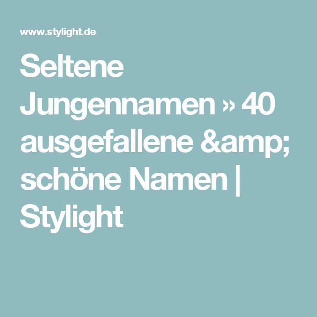 Seltene Jungennamen » 40 ausgefallene & schöne Namen   Stylight