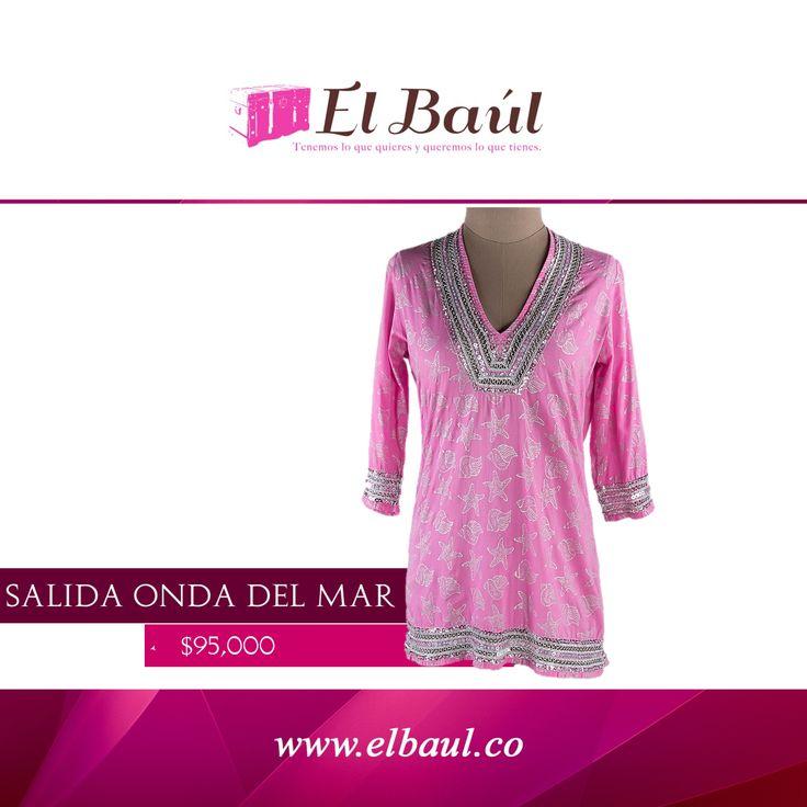 Onda del mar salida de baño rosada  $95,000 http://elbaul.co/Productos/1831/Onda-del-mar-salida-de-ba%C3%B1o-rosada-