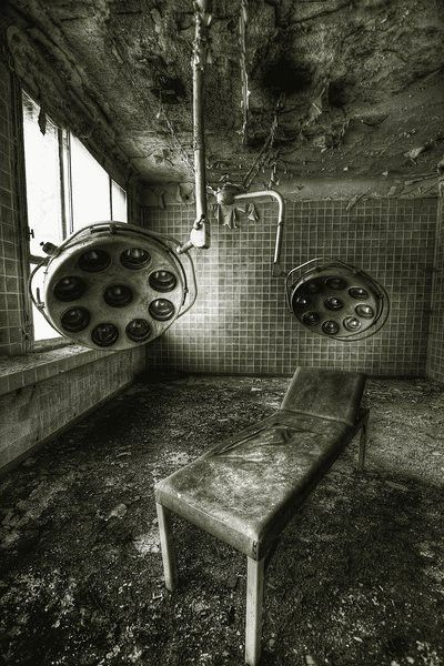 abandoned hospital by kristin.small creepy as fuck. Can you imagine all the procedures that were performed here...