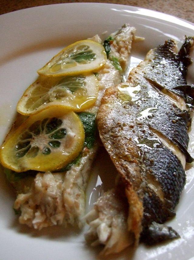 Mediterranean Roasted Whole Branzino