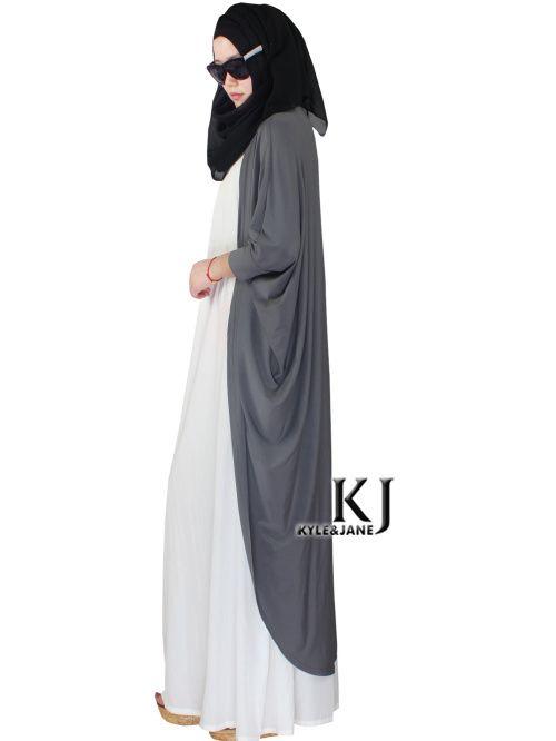 Grey Tunic Outwear Abaya Party Dress Traditional Islamic Clothing Brand Muslim Dress Women Maxi Long Jilbabs Dubai Abaya 5XL