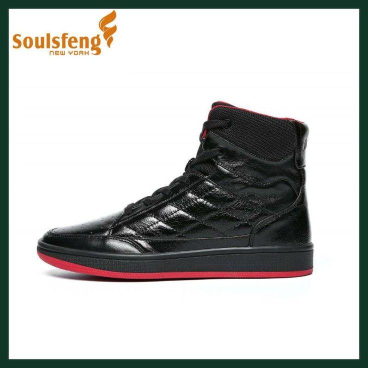 Soulsfeng Sneakers Men's Skateboarding Shoes Winter Leather Boots For Women Waterproof Anti-Slippery Walking Shoes For Christmas