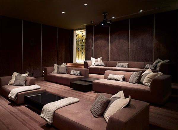 spectacular minimalist home design in la by spf architects - Home Theatre Design