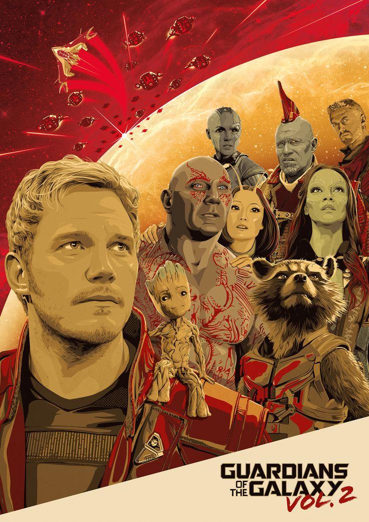Guardians of the Galaxy Vol. 2 Poster - Adam Stothard