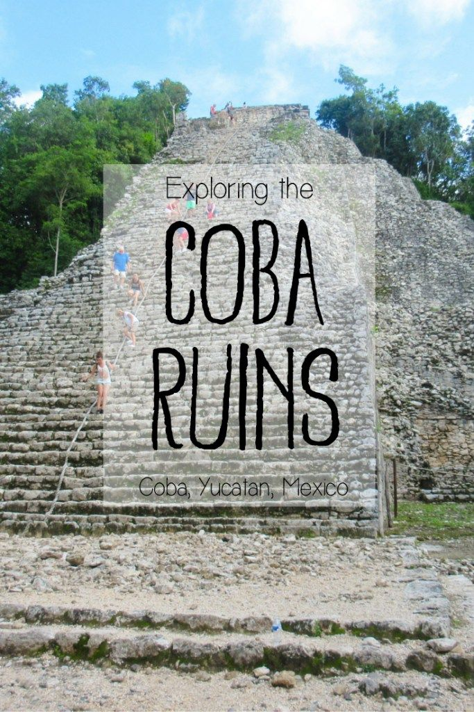 Exploring the Mayan Ruins of Coba in Mexico's Yucatan Peninsula -> Are you traveling to Mexico's Yucatan? Check out my blog post for a detailed guide to exploring these impressive, rugged and lesser-visited Mayan Ruins located near Tulum, Playa del Carmen and Valladolid. Visiting Coba makes a perfect and convenient day trip!