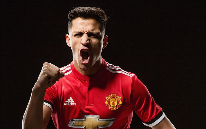 Download wallpapers Alexis Sanchez, Manchester United, photoshoot, Premier League, England, Chilean footballer