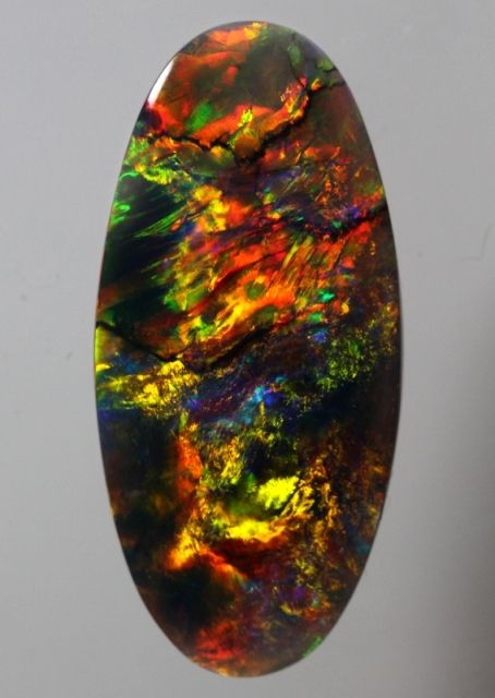 Lightning Ridge Gem Black Opal - 3.17ct Brilliant Blood Red Solid Black Opal (1270) CODE: GLO-1270 Price: USD$5,000.00