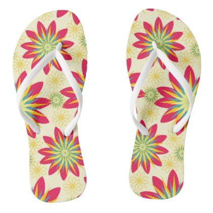 Bloomin' Good Start Floral Flip Flops - good gifts special unique customize style