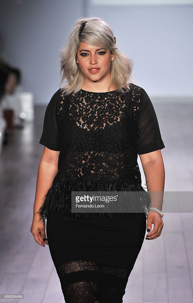 1bc7d2f4a9370 A model walks down the runway during the Addition Elle/Ashley Graham  Lingerie Collection fashion show during the Spring 2016 Style 360 on  September 15, ...