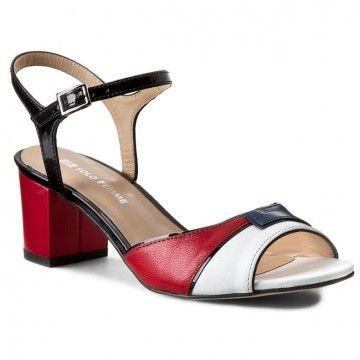 Sandały SOLO FEMME - 64403-01-E01/C90-07-00 Biały/Granat/Czerwony