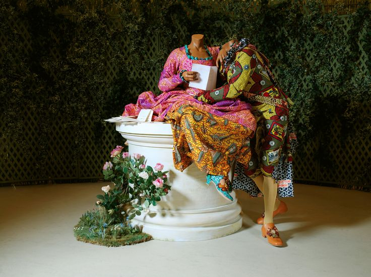 Yinka Shonibare- The Confession | Yinka Shonibare, MBE, The Confession, 2007. Two mannequins, Dutch wax ...
