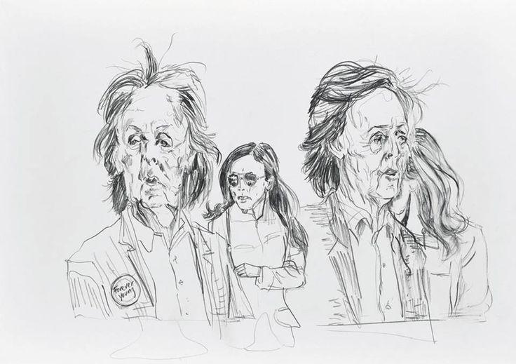 Sneak peek_05 Wolfgang Neumann, 2014 Bleistift auf Papier / Pencil on paper, 30 x 42 cm In: Aras Ören, Kopfstand, Seite 68_69 / page 68_69