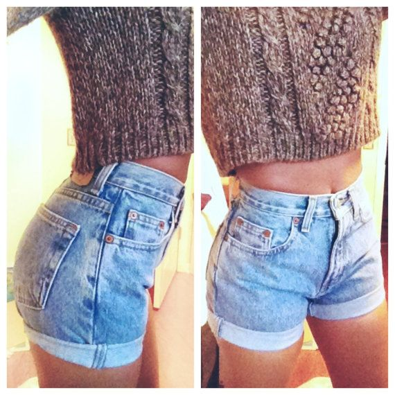 High waisted shorts.