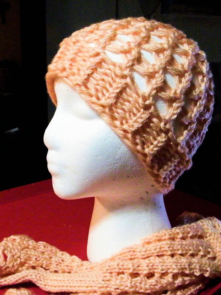 Loom Knit - How to Loom a Netted Hat - makes a nice open weave pattern for the warmer months.  Posted on YouTube by Scarlett Royal.