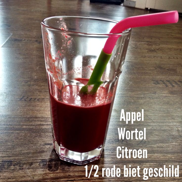 Morgenrood sapje in de slowjuicer