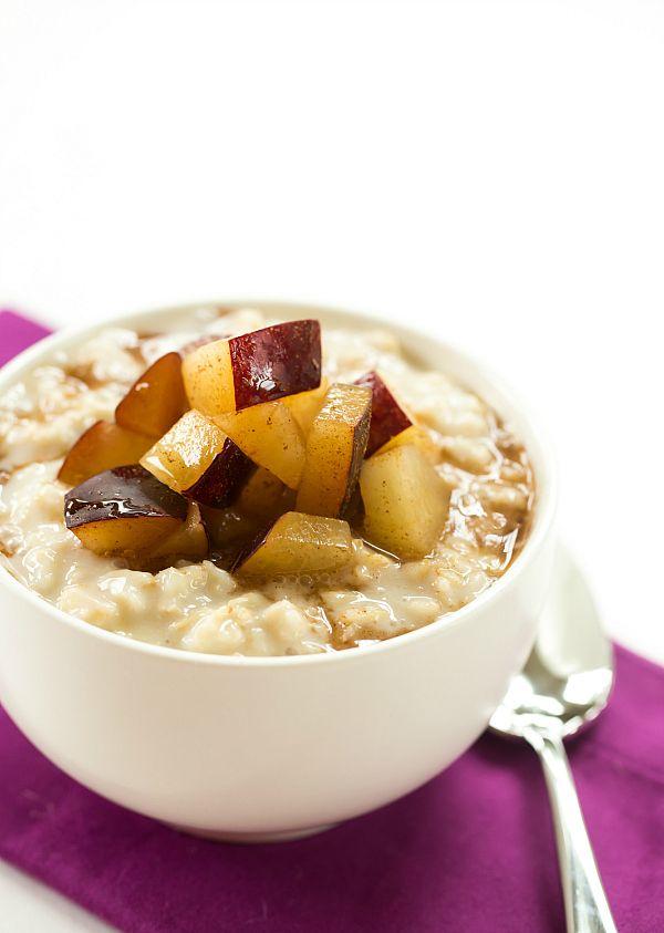 Overnight Chilled Plum-Oatmeal | browneyedbaker.com #recipe