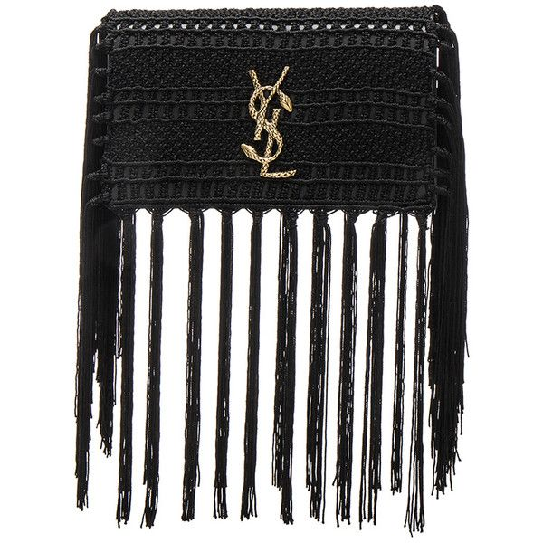 Saint Laurent Small Monogramme Crochet Serpent Clutch (¡ê1,145 ...
