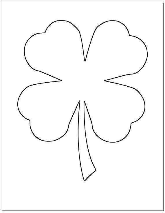 8 5 Inch Shamrock Template Large Printable Shamrock St Patrick S