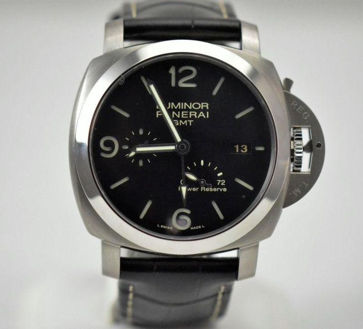 Panerai Luminor GMT 29J 1950 PAM 321 44MM Cal P.9002 Stainless Diver Watch #S715