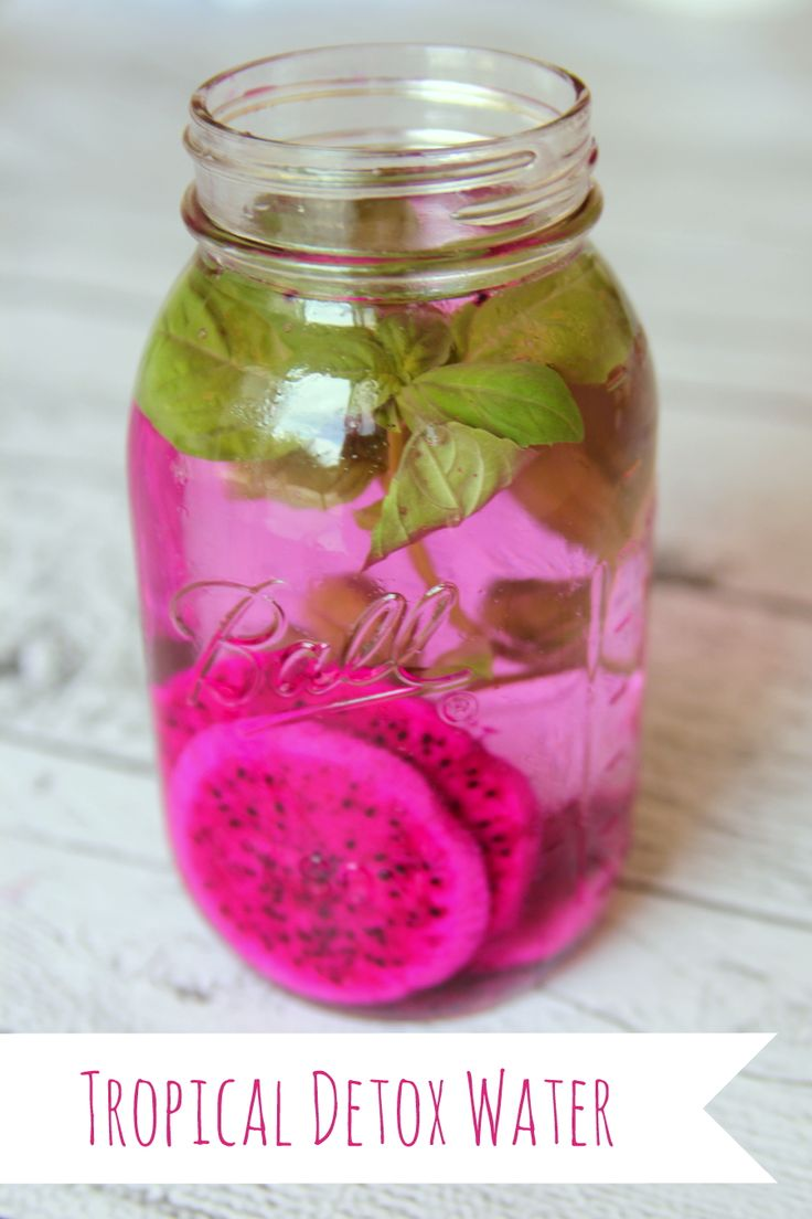 how to make your own detox water (tropical style!)