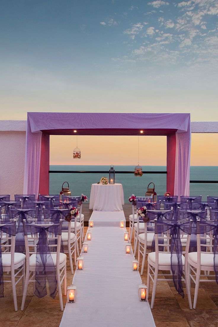 The location wedding venue and backdrop at