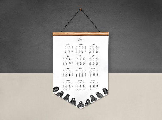2014 Wand Kalender  Robins  EcoFriendly auf von ThePaperbirdSociety