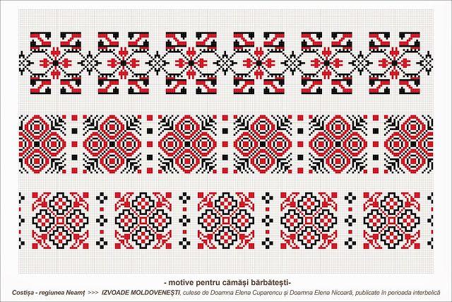Semne Cusute: Romanian traditional motifs - MOLDOVA - Neamt - Co...