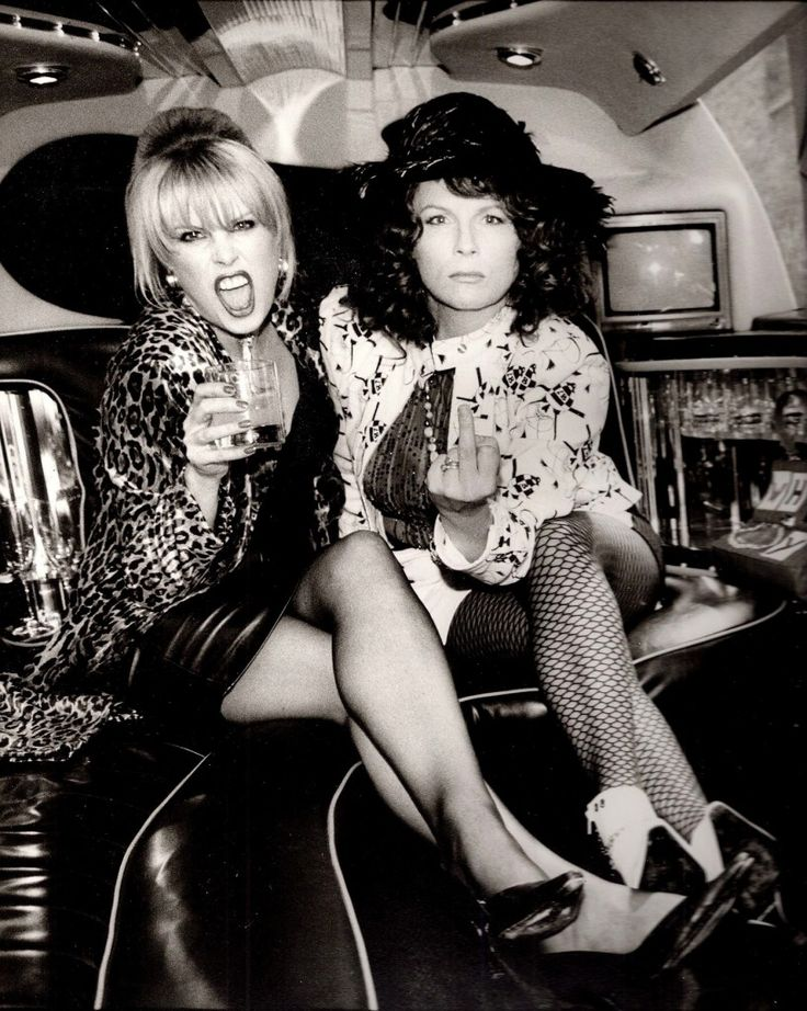 Patsy Stone & Edina Monsoon in Ab Fab (Joanna Lumley & Jennifer Saunders)