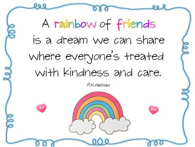 for the rainbow of friends bulletin board
