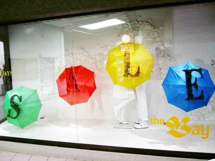 The Bay Spring Sale Window - Visual Merchandising