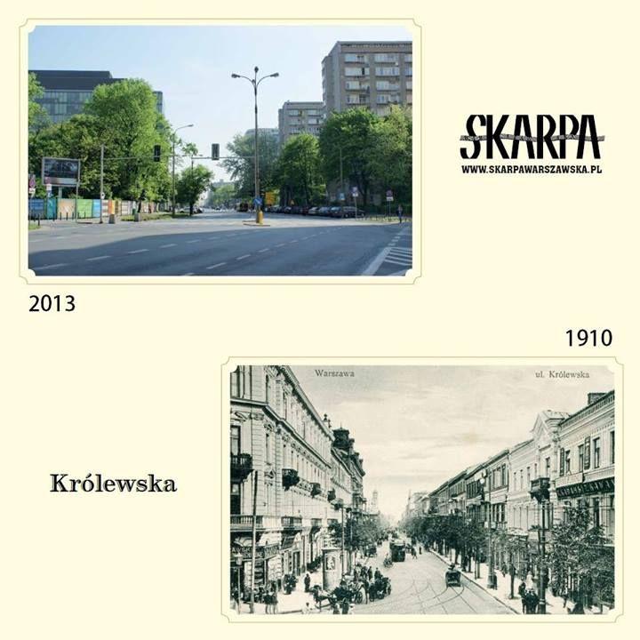 Królewska street then and now