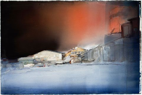 lars lerin watercolor | Lars Lerin. Night. 100x150 cm