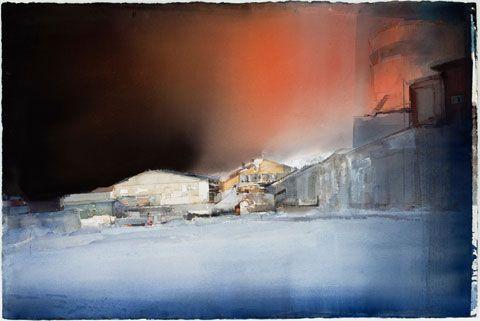 lars lerin watercolor | Lars Lerin. Night. 100x150 cm
