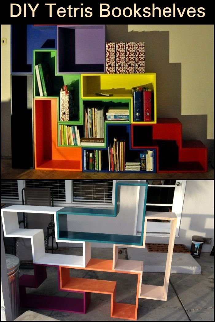 This Tetris Themed Bookshelf Doesnt Only Look Cool But Is Also A Great Storage Solution